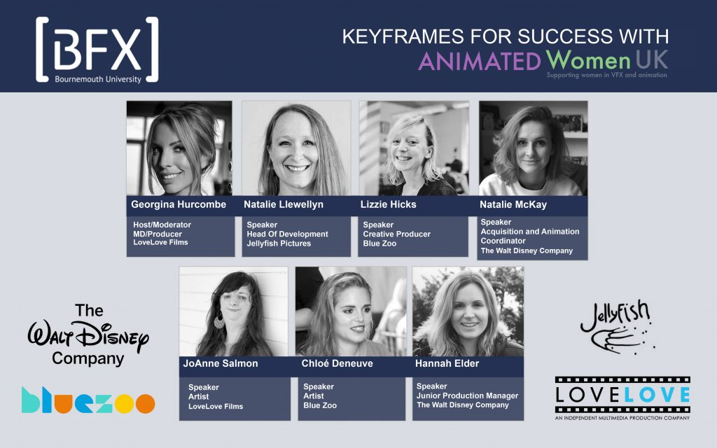 Animated Women UK Host Keyframe for Success at BFX Festival